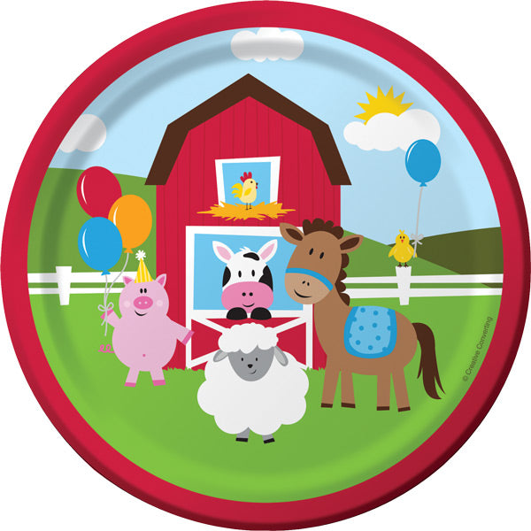Farm Fun Dessert Plates, 8 ct by Creative Converting