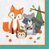 Wild One Woodland Animals Napkins, Pack Of 16 by Creative Converting