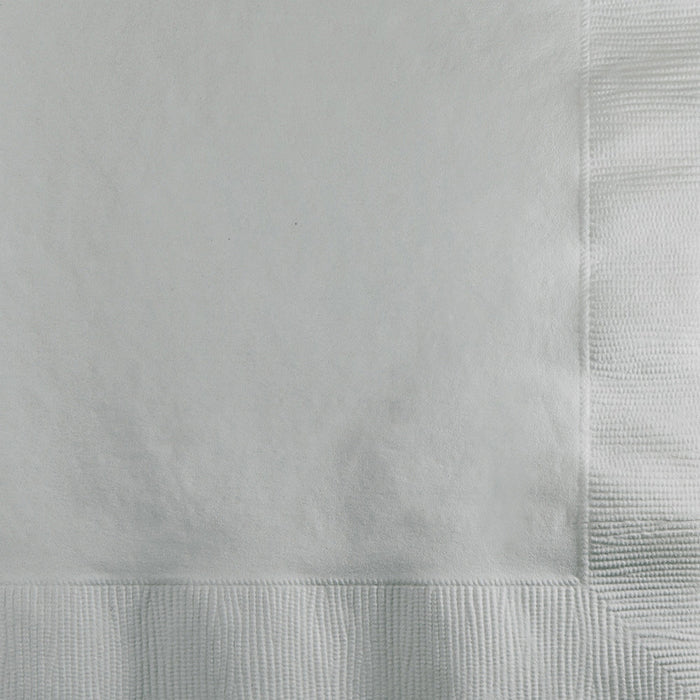 Shimmering Silver Beverage Napkin, 3 Ply, 50 ct by Creative Converting