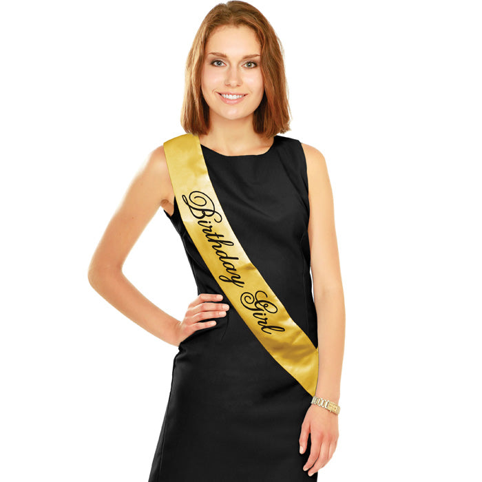 Black And Gold Birthday Sash by Creative Converting