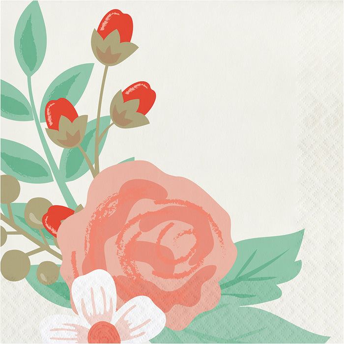 Modern Floral Luncheon Napkin, 3 Ply, 16 ct by Creative Converting