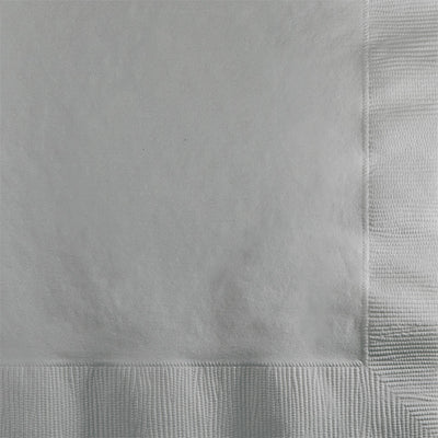 Shimmering Silver Beverage Napkin 2Ply, 50 ct by Creative Converting