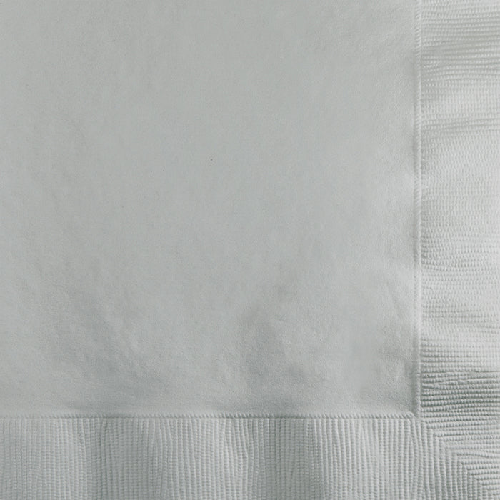 Shimmering Silver Beverage Napkin 2Ply, 200 ct by Creative Converting
