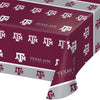 "Texas A And M University Plastic Tablecloth, 54"" X 108"" by Creative Converting"