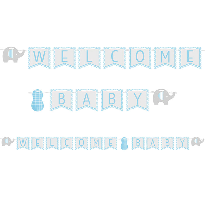 Little Peanut Boy Elephant Ribbon Banner by Creative Converting