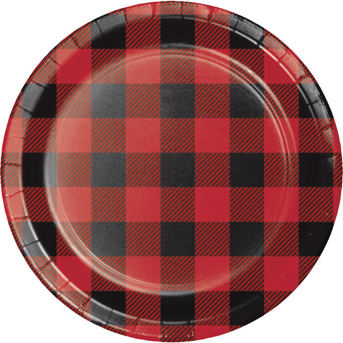 Buffalo Plaid Dessert Plates, 8 ct by Creative Converting
