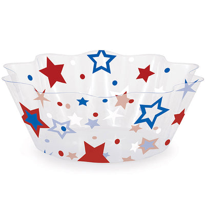 "Patriotic Stars 8"" Fluted Bowl by Creative Converting"