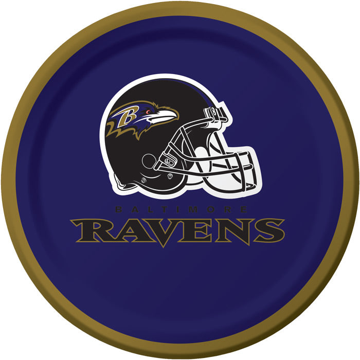 Baltimore Ravens Dessert Plates, 8 ct by Creative Converting