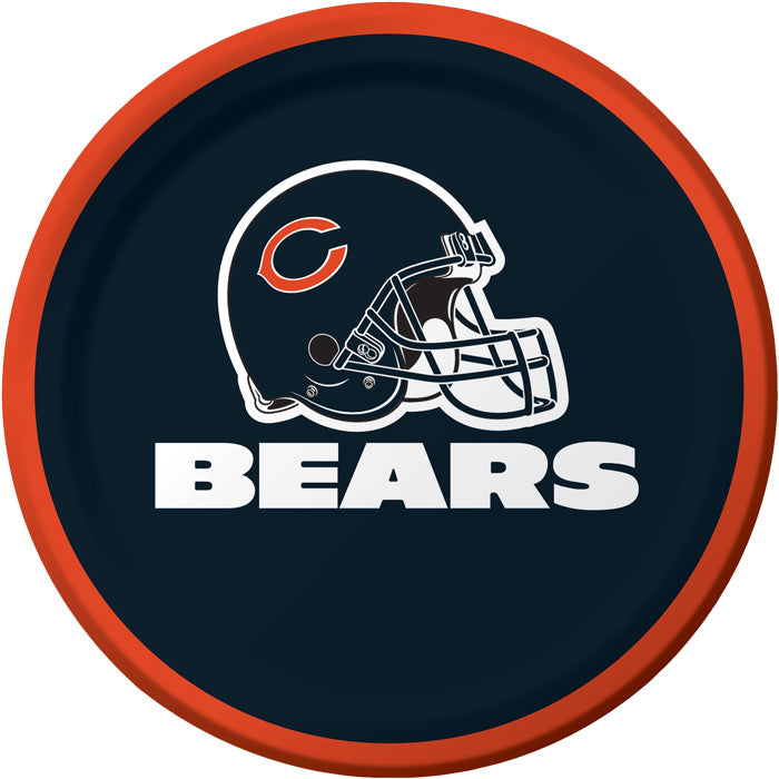 Chicago Bears Dessert Plates, 8 ct by Creative Converting