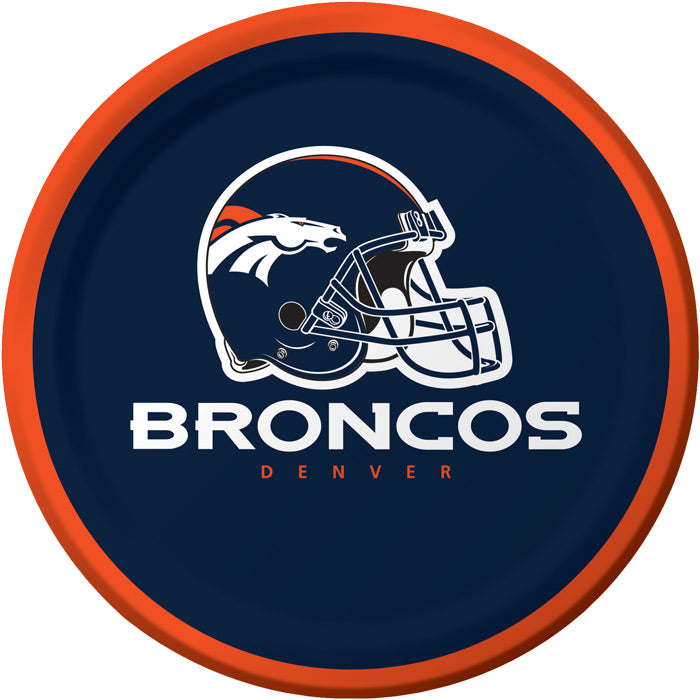 Denver Broncos Dessert Plates, 8 ct by Creative Converting