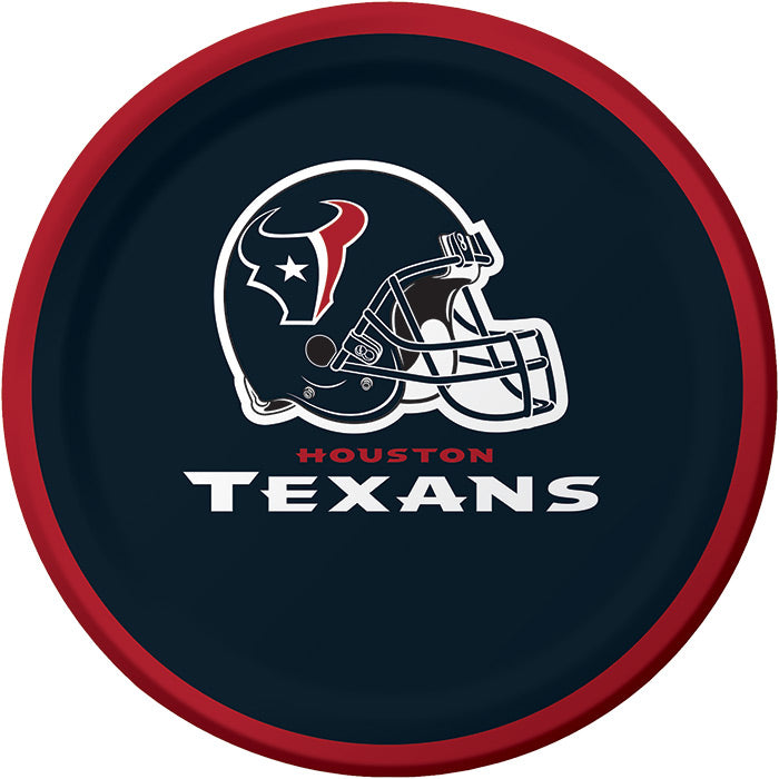 Houston Texans Dessert Plates, 8 ct by Creative Converting