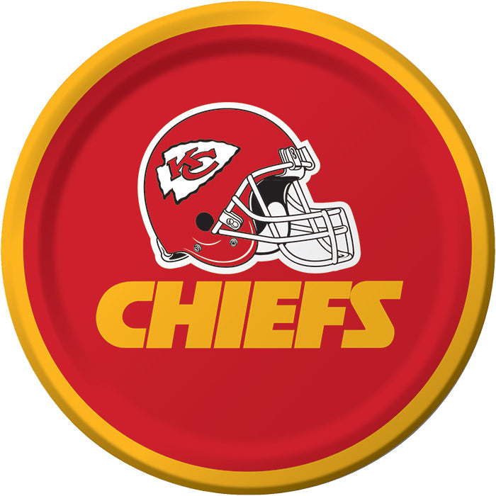 Kansas City Chiefs Dessert Plates, 8 ct by Creative Converting