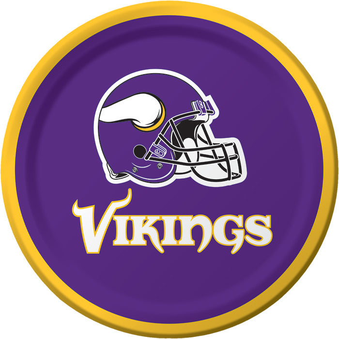 Minnesota Vikings Dessert Plates, 8 ct by Creative Converting