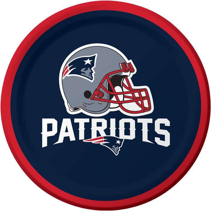 New England Patriots Dessert Plates, 8 ct by Creative Converting