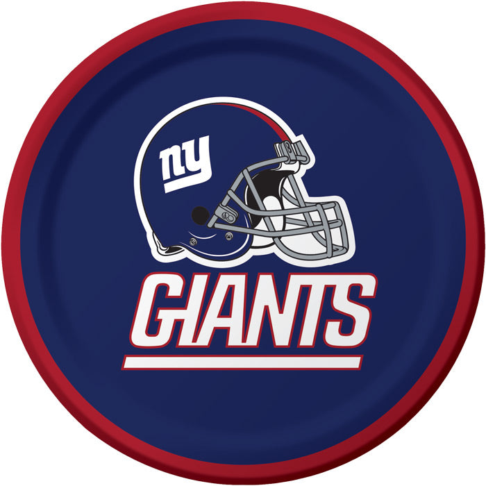 New York Giants Dessert Plates, 8 ct by Creative Converting