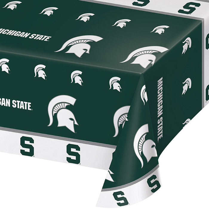 "Michigan State University Plastic Tablecloth, 54"" X 108"" by Creative Converting"