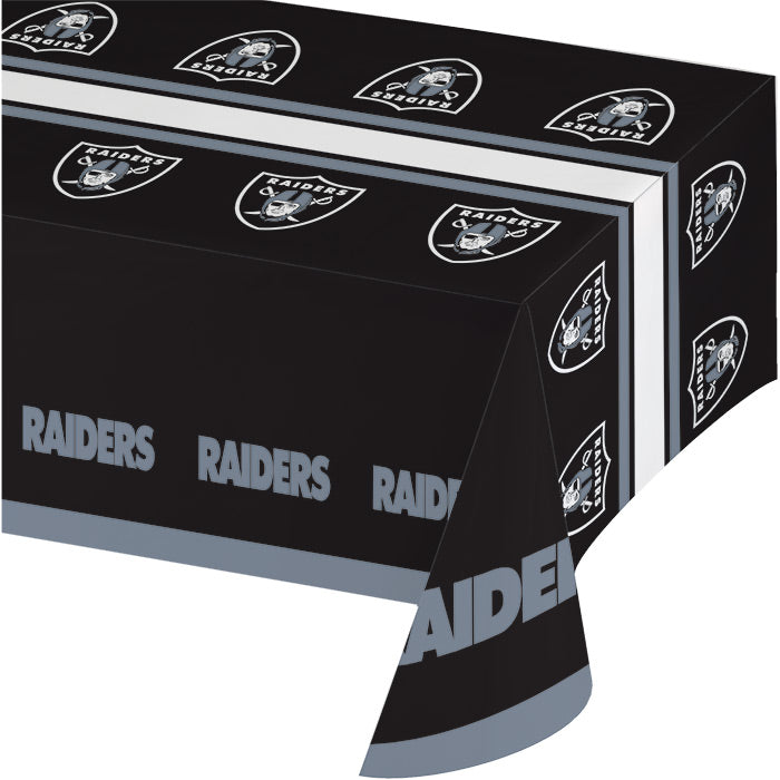 "Oakland Raiders Plastic Tablecloth, 54"" X 108"" by Creative Converting"