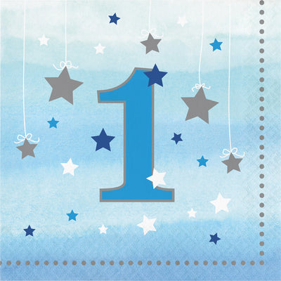 One Little Star Boy 1st Birthday Napkins, 16 ct by Creative Converting