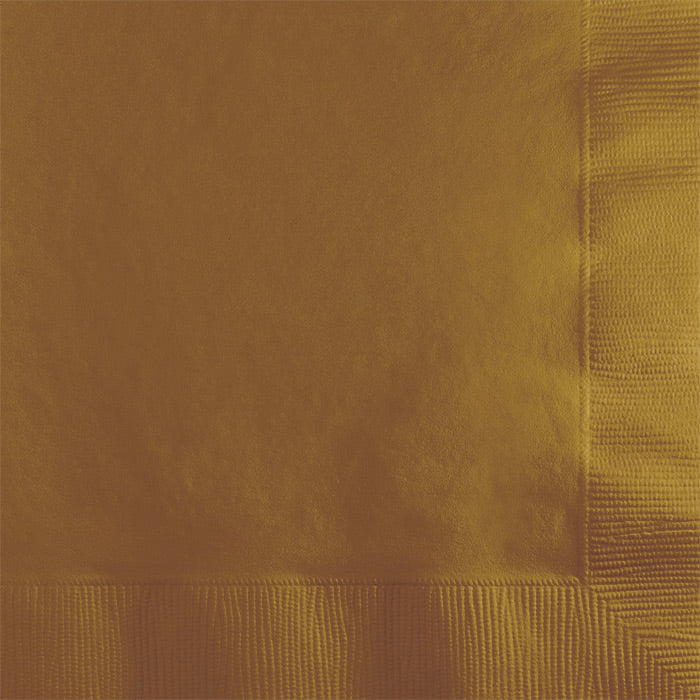 Glittering Gold Beverage Napkin 2Ply, 50 ct by Creative Converting