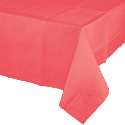 "Coral Tablecover 54""X 108"" Polylined Tissue by Creative Converting"