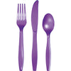 Amethyst Purple Assorted Plastic Cutlery, 24 ct by Creative Converting