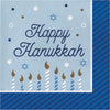 Hanukkah Celebration Luncheon Party Napkins 16 ct - Hanukkah Party Supplies