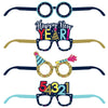 New Year Paper Eyeglasses 4 ct - New Years Eve Party Supplies