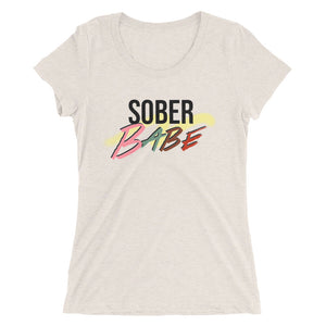 Sober Babe Ladies' short sleeve t-shirt