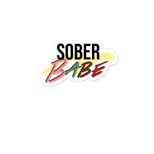 Sober Babe Bubble-free stickers