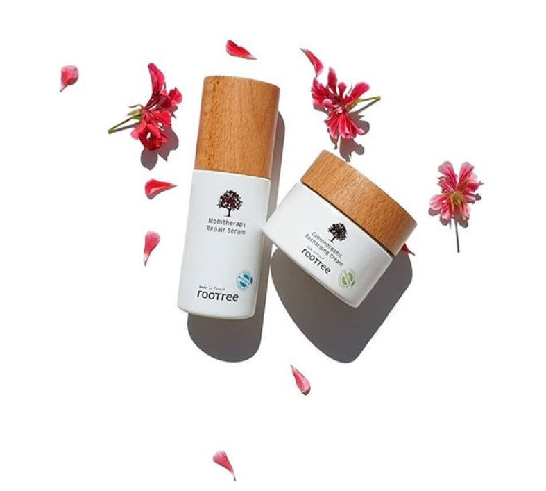 ROOTREE MOBITHERAPY REPAIR SERUM, CAMPHORGANIC RECHARGING CREAM by @sherhearti