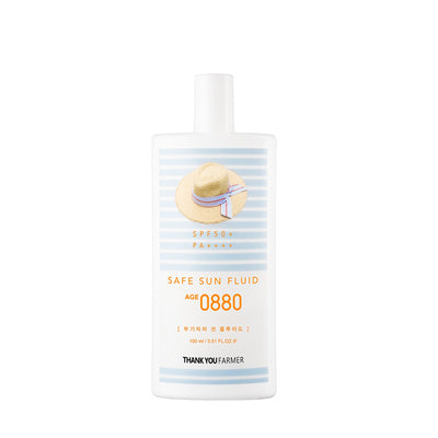 Thank You Farmer Safe Sun Fluid 0880 100ml - Goryeo Cosmetics worldwide shop