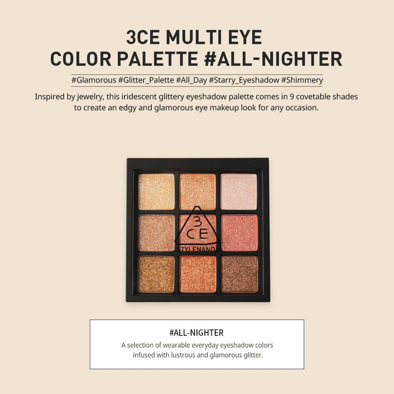 3CE multi eye color palette