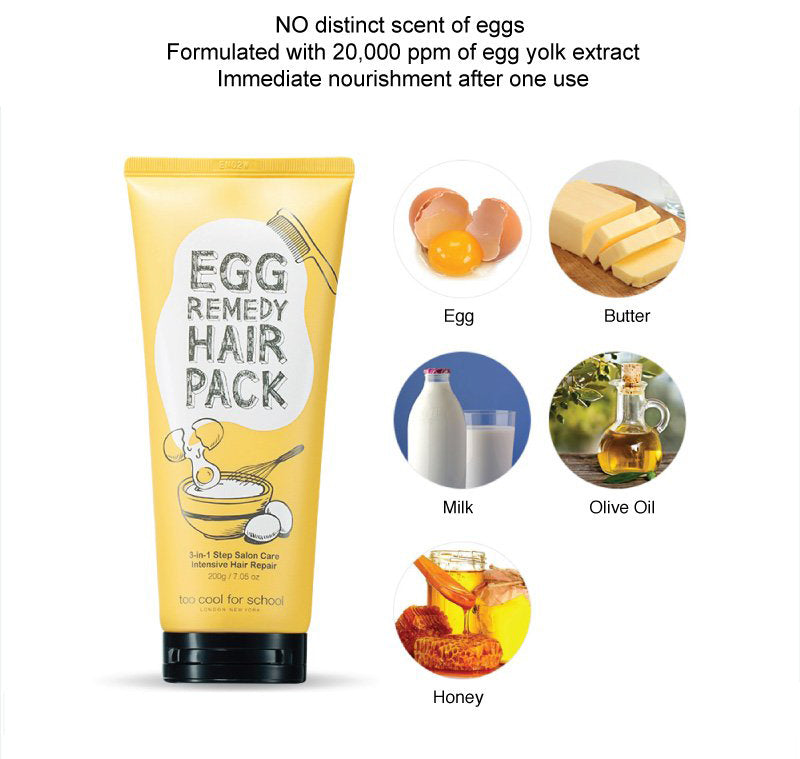 ingredients hair egg mask