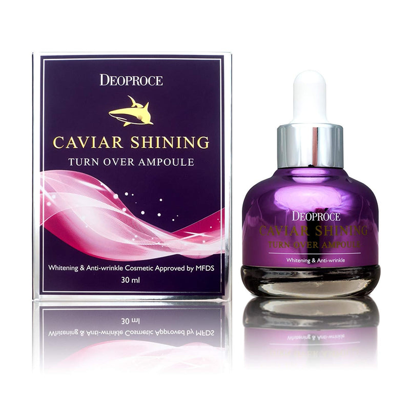 Deoproce Caviar Shining Turn Over Korean Ampoule 30ml - Goryeo Cosmetics worldwide shop