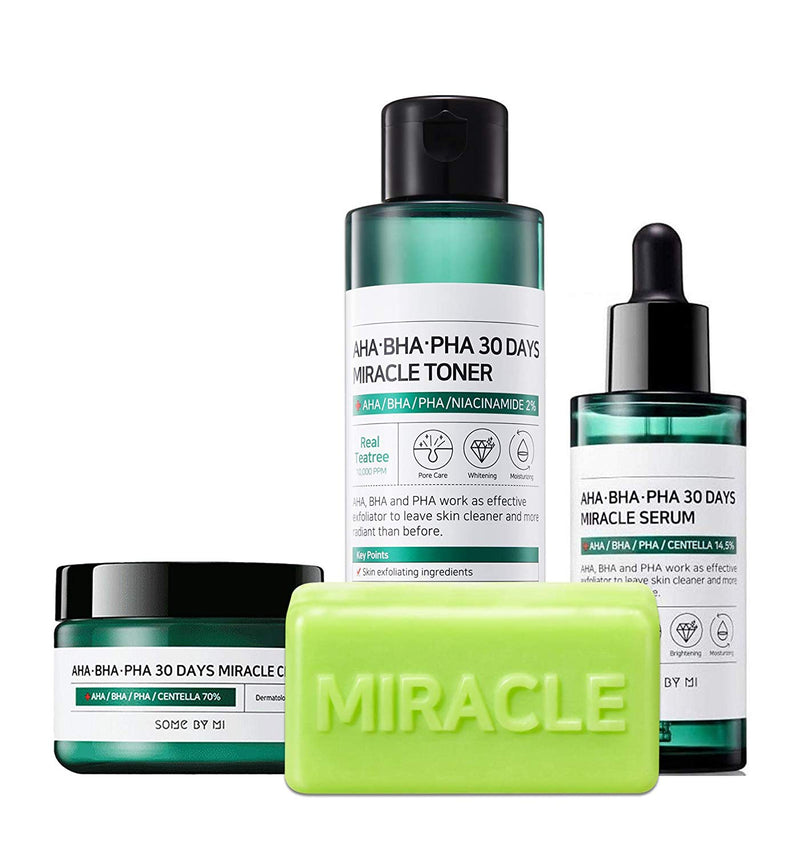 Some by mi AHA BHA PHA Miracle Series Full Set 4 Pcs - Goryeo Cosmetics worldwide shop