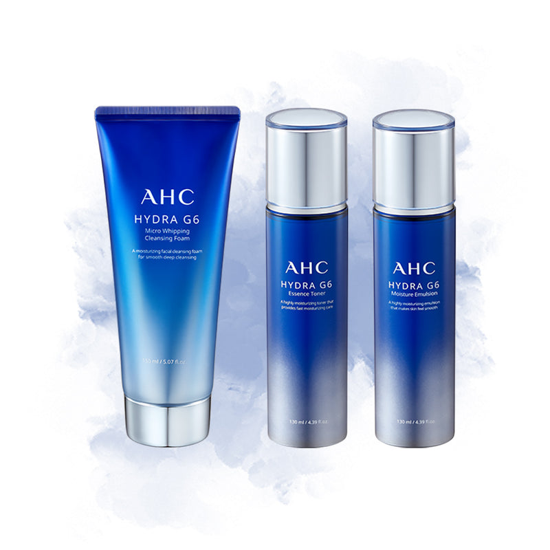 AHC Hydra G6 Set (Clensing Foam Toner and Emulsion) - Goryeo Cosmetics worldwide shop