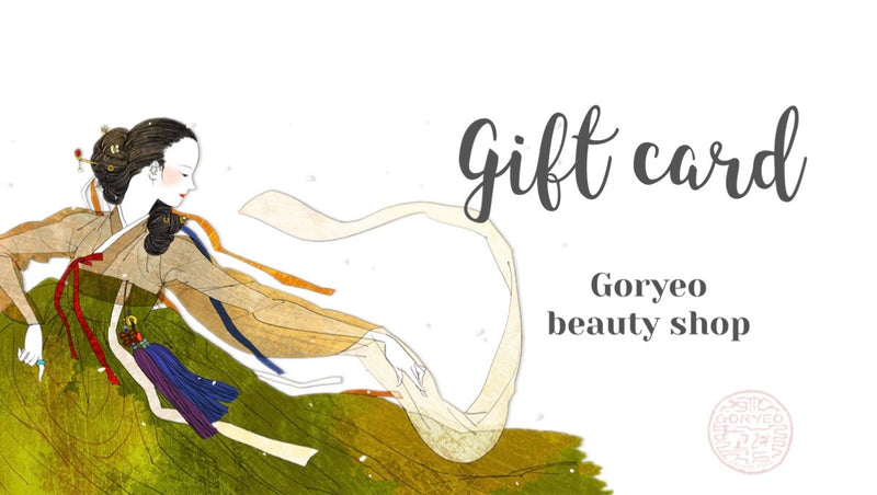 Gift Card - Goryeo Cosmetics worldwide shop