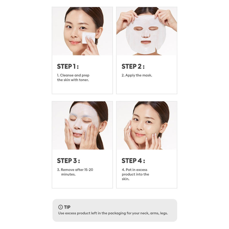 MISSHA MASCURE CALMING SOLUTION SHEET MASK - GUAIAZULENE - Goryeo Cosmetics worldwide shop