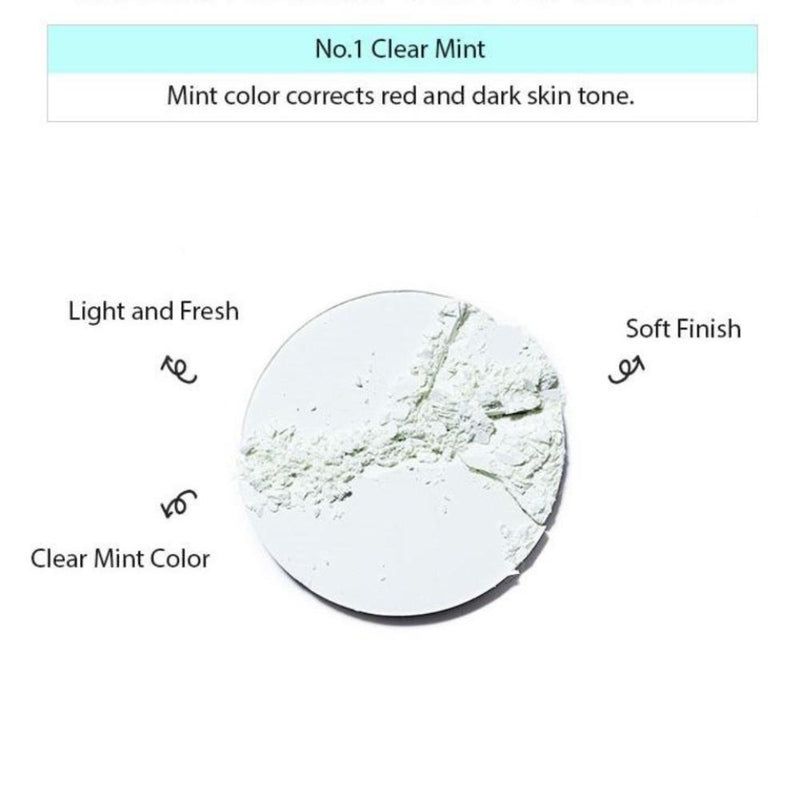 Missha Sebum-Cut Powder Pact (Clear Mint) - Goryeo Cosmetics worldwide shop