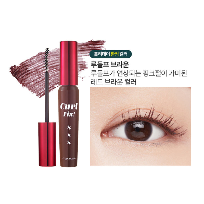 Etude House Rudolph, Coming To Town Lash Perm Curl-Fix Mascara - Goryeo Cosmetics worldwide shop