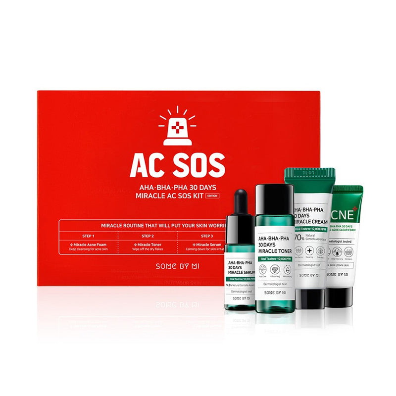 SOME BY MI Aha.Bha.Pha 30Days Miracle AC SOS Kit - Goryeo Cosmetics worldwide shop