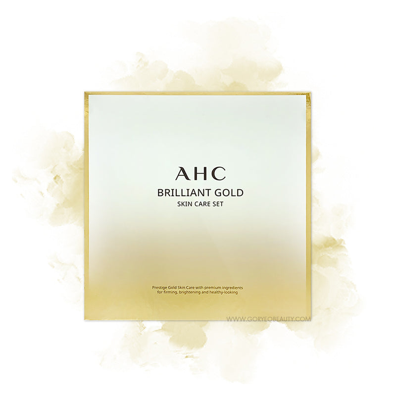 AHC Brilliant Gold Skin Care Set (3 ITEMS) - Goryeo Cosmetics worldwide shop