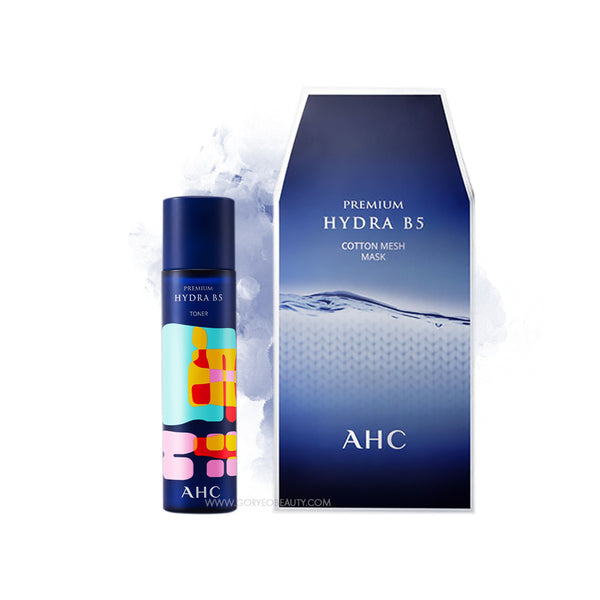 AHC Premium Hydra B5 Set (Toner+Cotton Mesh Mask)