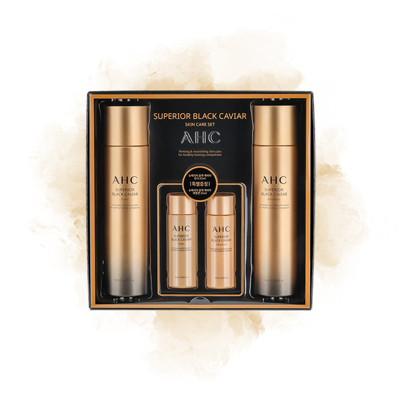 A.H.C Superior Black Caviar Skin Care Set - Goryeo Cosmetics worldwide shop