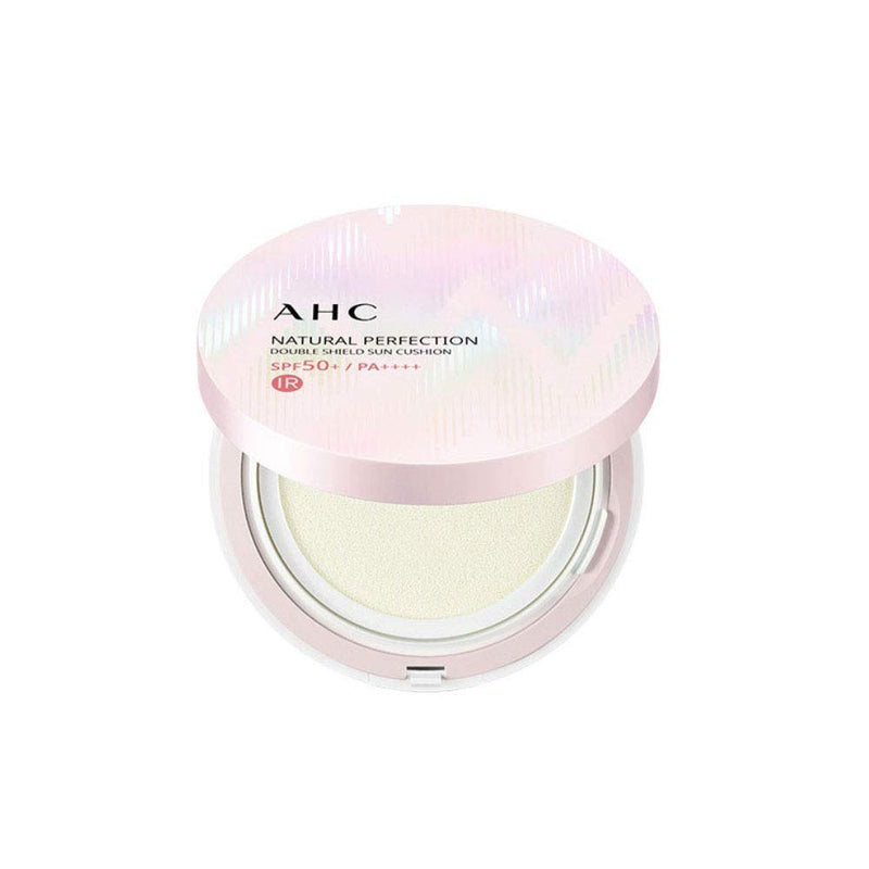 AHC Natural Perfection Double Shield Sun Cushion (UV/IR Block) SPF50+/PA++++ - Goryeo Cosmetics worldwide shop