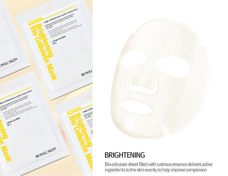 ROYAL SKIN PRIME EDITION Brightening Bio Cellulose Mask 1 unit - Goryeo Cosmetics worldwide shop