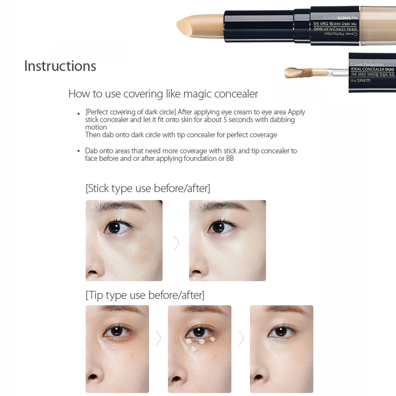 The Saem Cover Perfection Ideal Concealer Duo - Goryeo Cosmetics worldwide shop