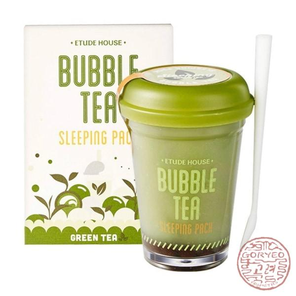 ETUDE HOUSE Bubble Tea Sleeping Pack, Green Tea - Goryeo Cosmetics worldwide shop