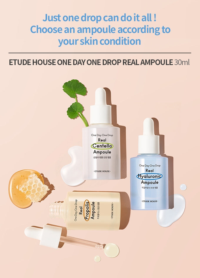 ETUDE HOUSE One Day One Drop Real Ampoule- Hyaluronic [Limited Edition] - Goryeo Cosmetics worldwide shop