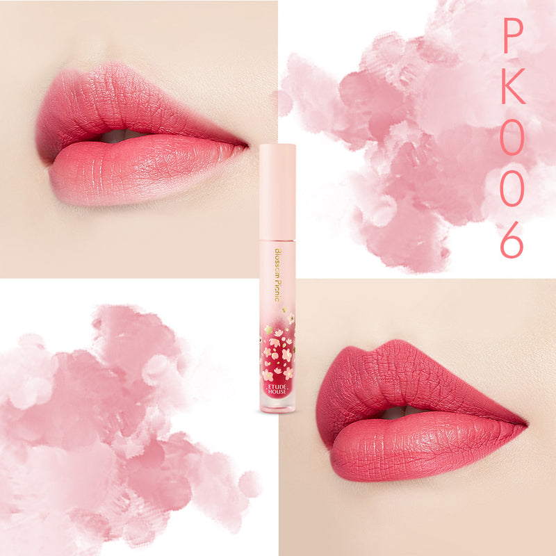 Etude House Blossom Picnic Matte Chic Lip Lacquer - Goryeo Cosmetics worldwide shop